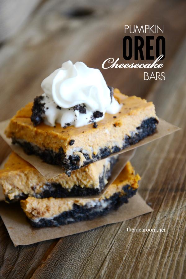 Pumpkin Oreo Cheesecake Bars cover