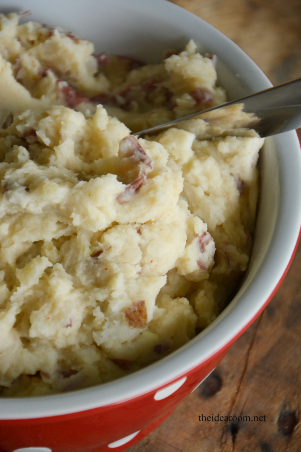 Red Garlic Mashed Potatoes - The Idea Room