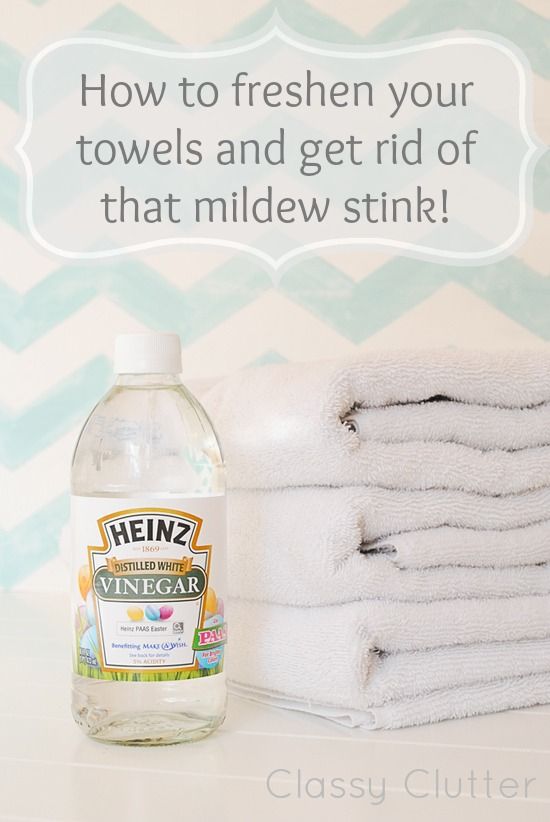 Remove Mildew Odors from Towels