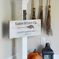 Halloween Sign: Salem Broom Co.