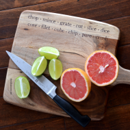 DIY Typography Cutting Board