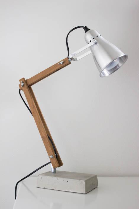 DIY Concrete Base Lamp