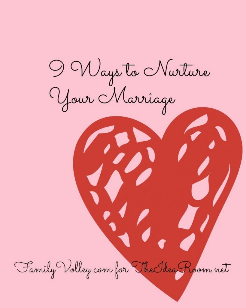 Nurture your marriage