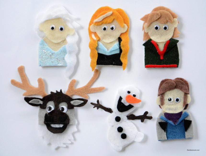 Frozen Finger Puppet Patterns The Idea Room