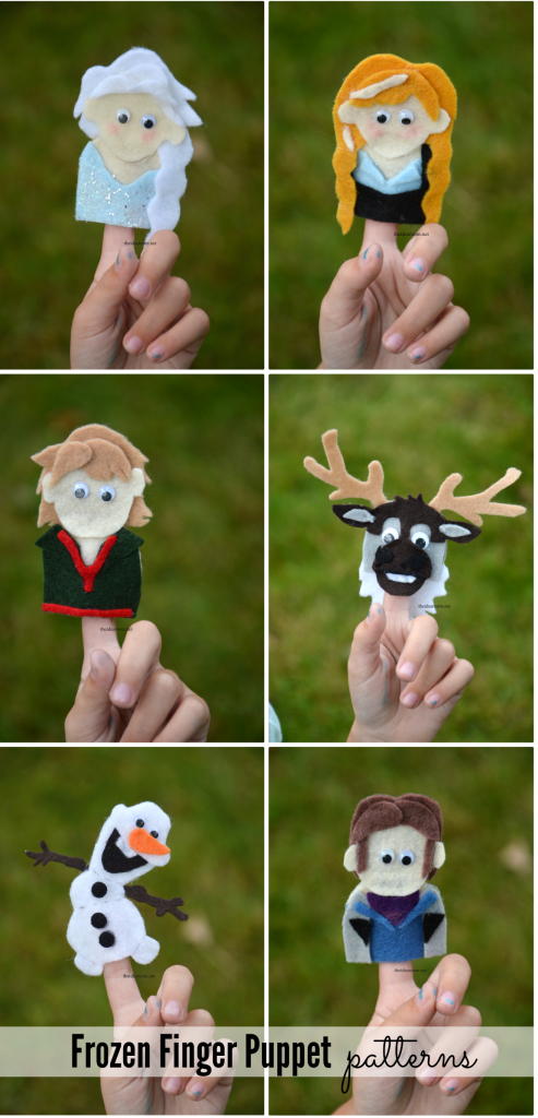 Frozen Finger Puppets