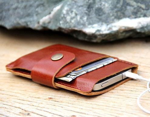 Handmade Leather Phone Wallet