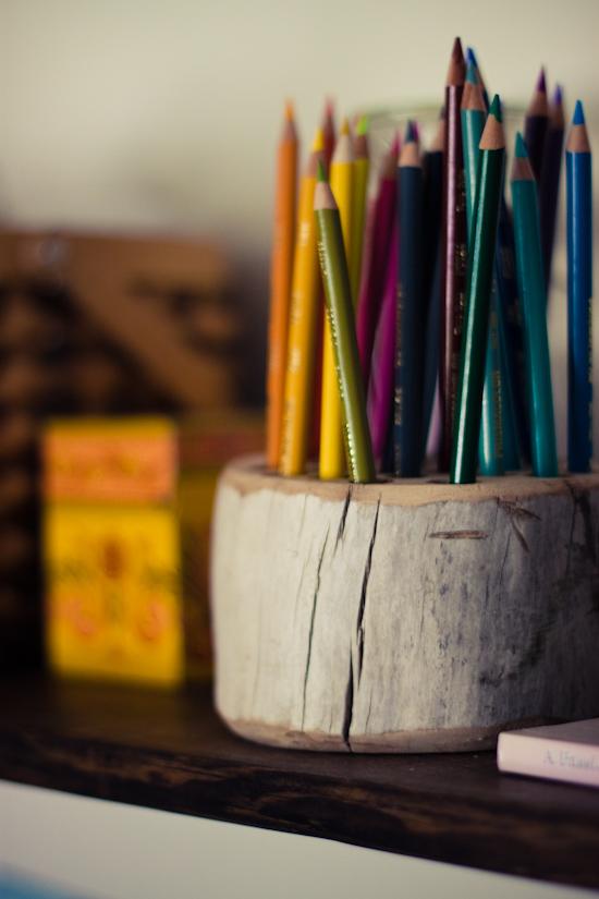 Rustic Pencil Holder