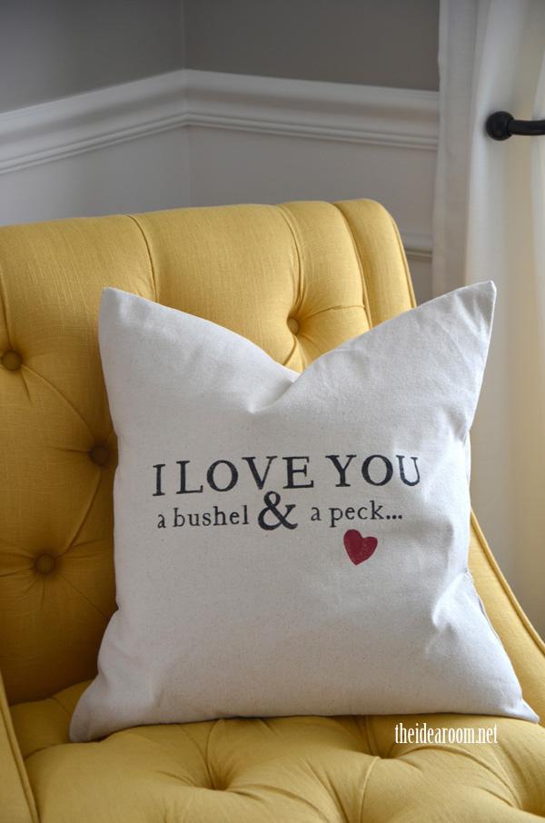 bushel and a peck pillow