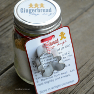 Gingerbread Play Dough Gift Kit & Recipe