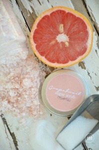 Grapefruit Sugar Scrub Recipe   Grapefruit Sugar Scrub labels