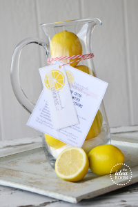 Homemade Lemonade Kit Gift and Printables  Label 1   Label 2   Label 3