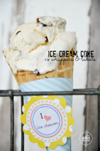Ice Cream Cone Wrappers Post   Ice Cream Cone Labels