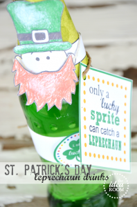 Leprechaun Bottle Printables   Leprochaun Character   Phrase Printable   Green Circle Label   Rainbow Circle Label   Happy St. Patrick's Day Label