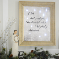 Lighted Christmas Sign