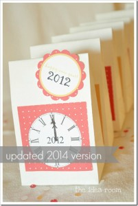New Years Eve Countdown Activity Bags Tutorial Printable Template