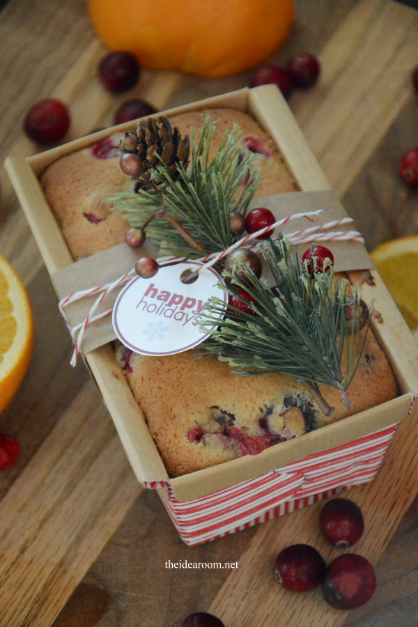 Christmas Cake Hamper Ideas : Orange Cranberry Bread - The Idea Room