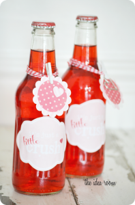 Original Post for Valentine's Day Crush Bottle Gifts   Label 1   Label 2   Label 3