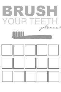 Printable Tooth Brush Charts Post and Tutorial (coming soon) GrayYellow