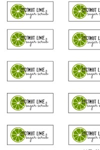 Coconut Lime Sugar Scrub  Labels