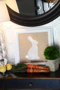 DIY Burlap Easter Bunny Décor Tutorial   Bunny Silhouette Printable