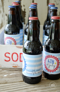 Fourth of July Soda Bottle Labels  Label PDF