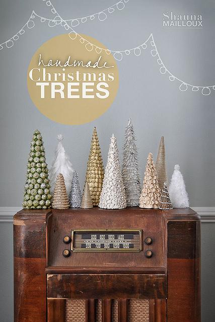 handmade Christmas trees