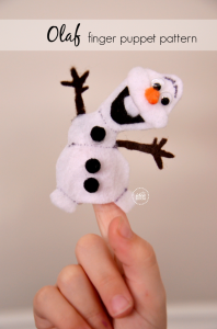 Olaf Finger Puppet Pattern tutorial   Olaf Finger Puppet Pattern Printable