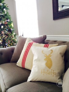 How to sew a pillow cover tutorial   Reindeer Head file    Reindeer Pillow Ho Ho Ho words