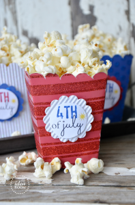 Popcorn Box Template Post  Template #1   Circle LabelTemplate #2