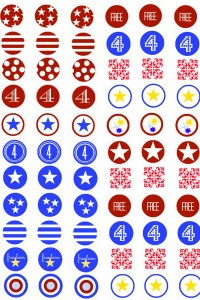 Fourth of July Kiss Sticker Sheet Post   Sticker Sheet PDF