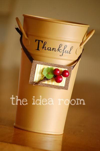 thanksgiving thankful bucket