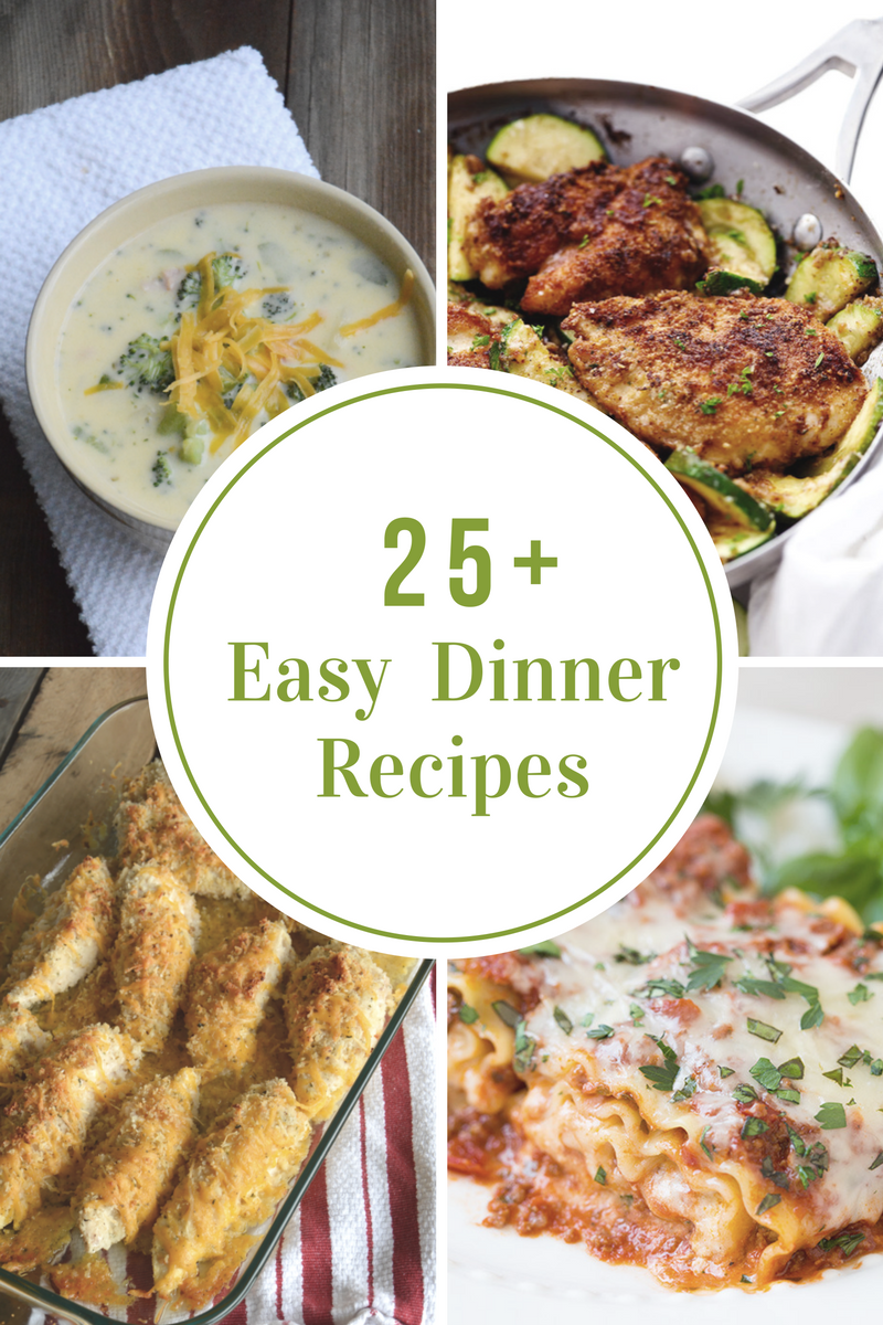 Easy weeknight dinner recipes the idea room for Easy homemade dinner recipes for two