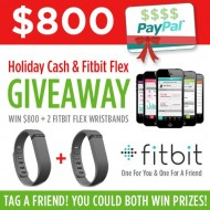 Holiday Cash & Fit Bit Giveaway