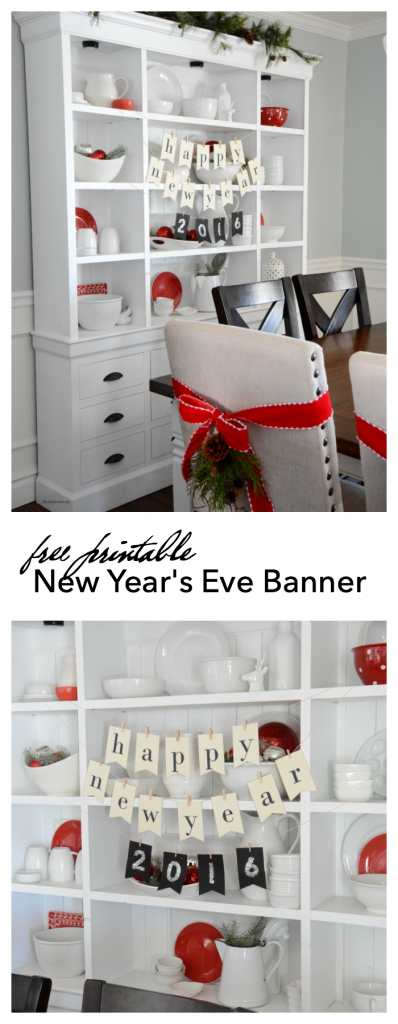 Printable New Year's Eve Banner 2016