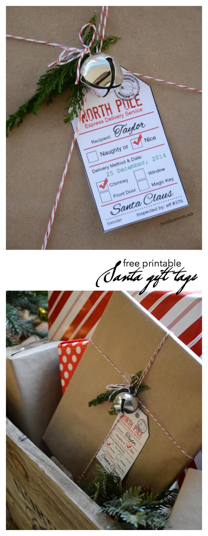 Santa Gift Tag Printables The Idea Room