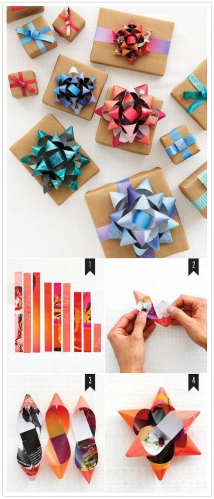 make own bows out of magazine