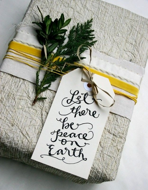peace on earth gift tag