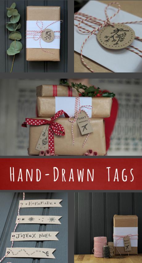 printable hand drawn gift tags