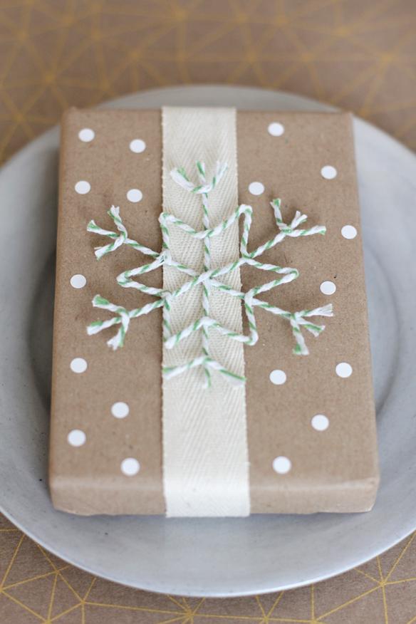 twine snowflake gift wrap