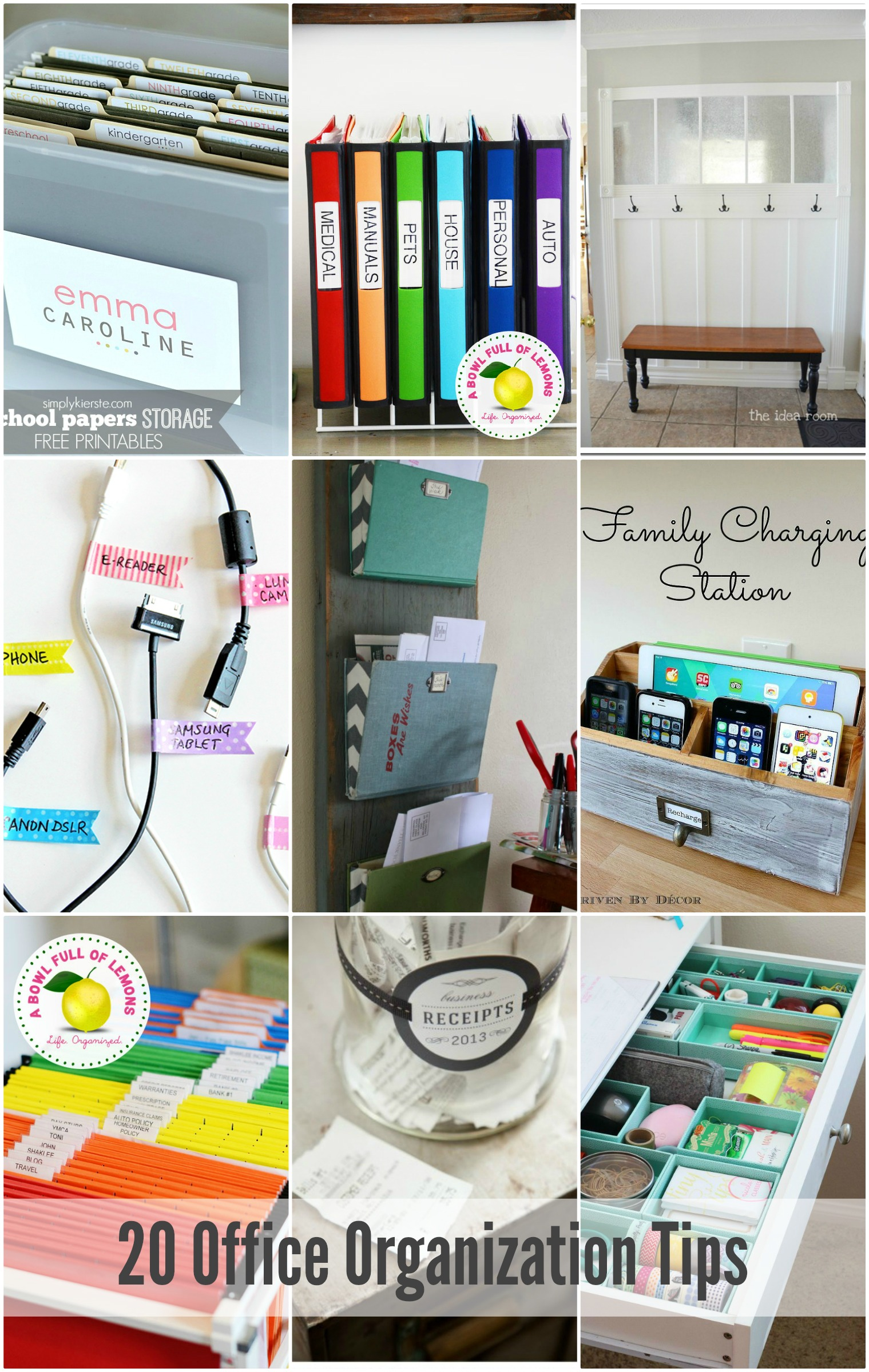 20 office organization tips the idea room - Office opslag tip ...