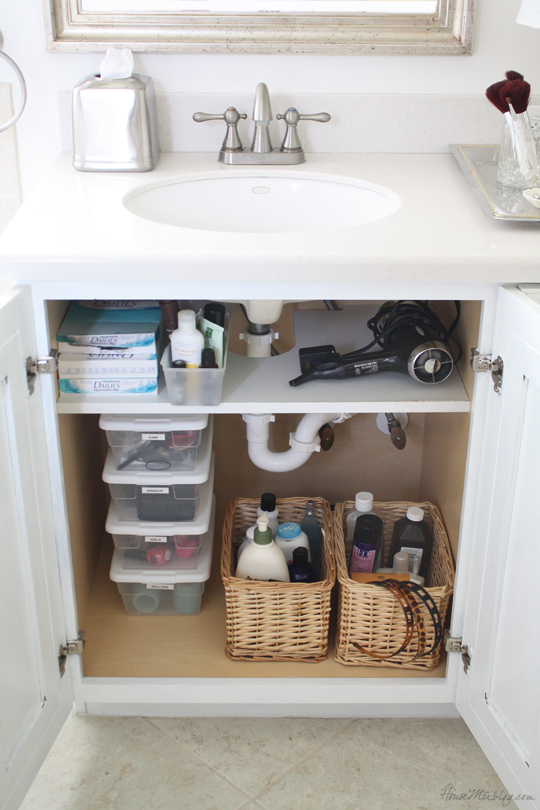 Organizing Cabinet Under Kitchen Sink
