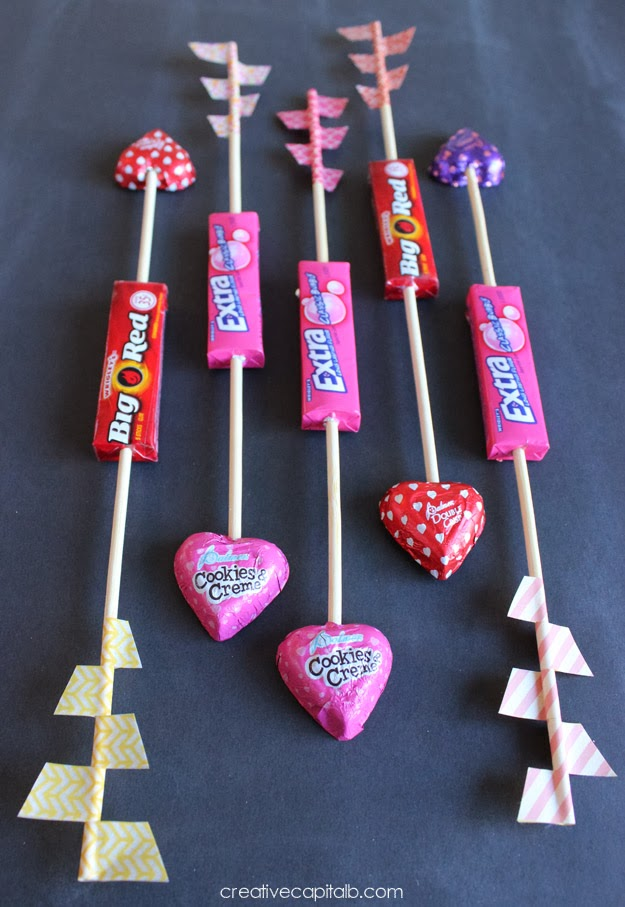 Classroom Valentine Arrows made in a hurry