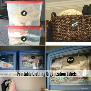 Clothing Organization Labels Cover a