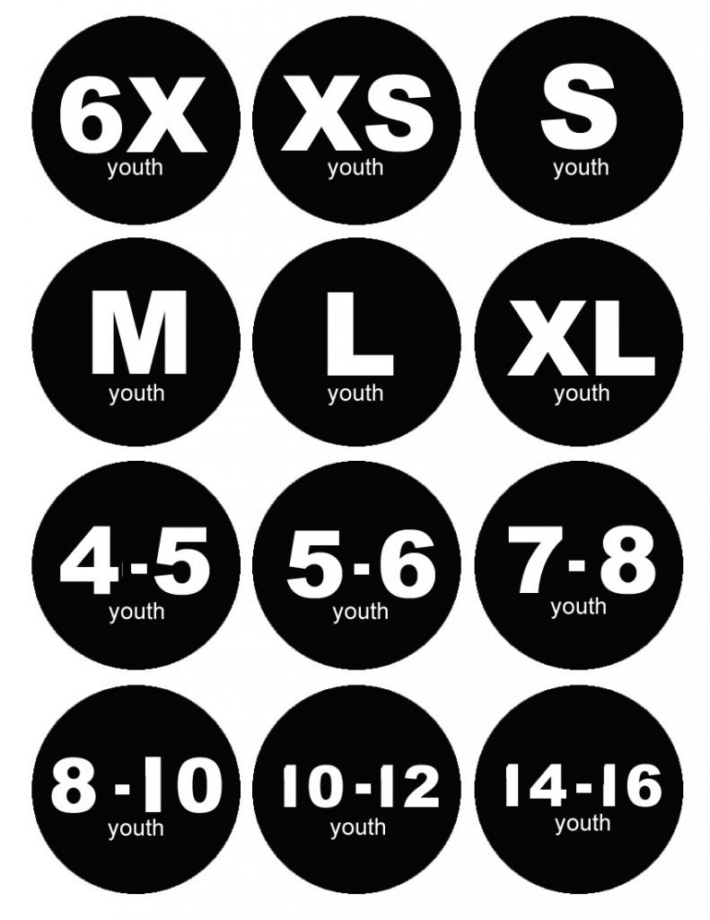 Clothing Storage Labels 6x+