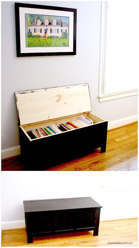 DIY filing cabinet