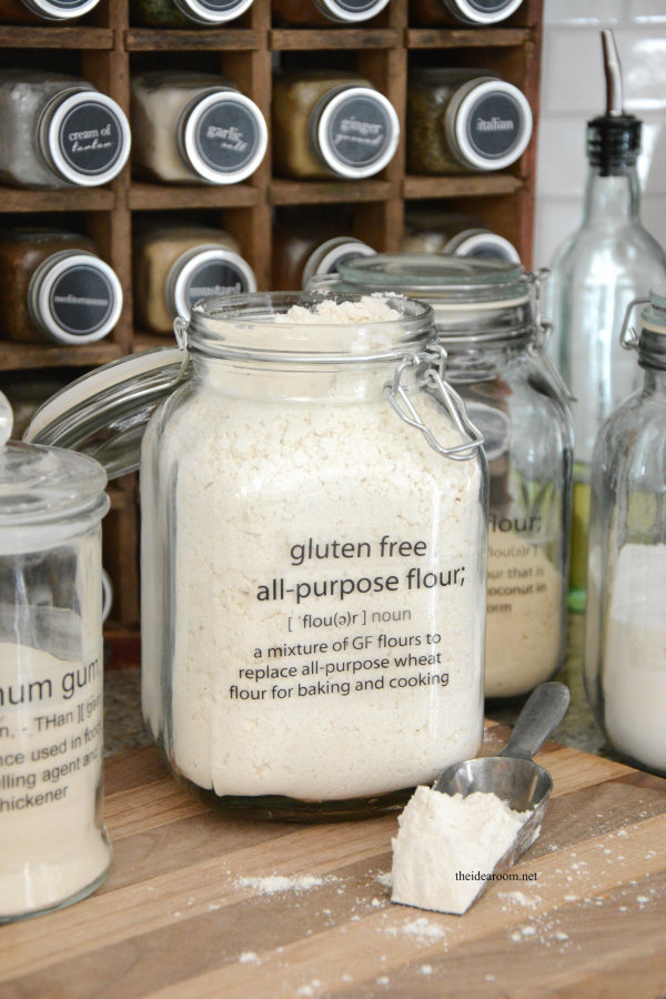 photo regarding Clear Printable Labels for Glass known as Printable Gluten Absolutely free Pantry Labels - The Thought Space