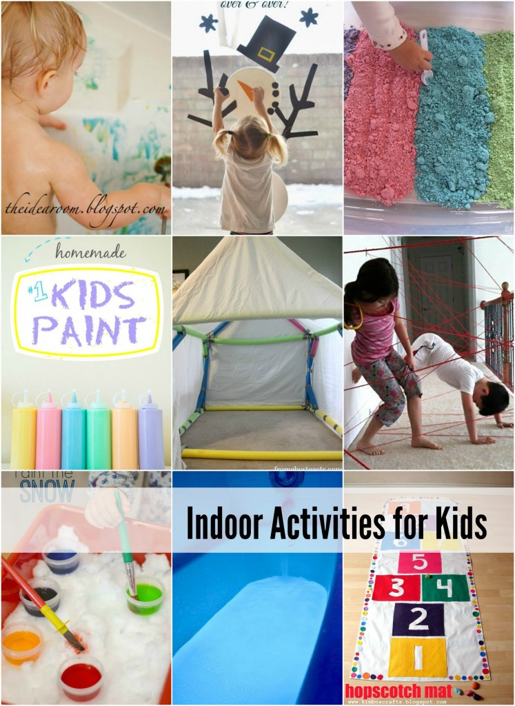 Indoor Activities | Entertain the kids this winter (or during HOT summer days) with these fun indoor activities for kids. Great way to keep you from going stir crazy.