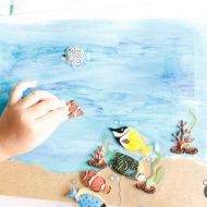 Kids Craft: Water Color Ocean Art