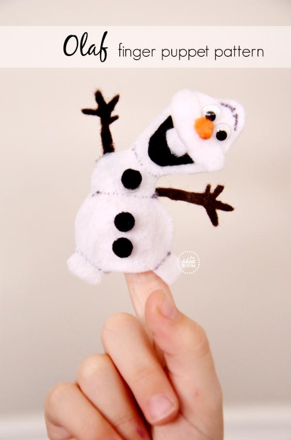 Olaf-Finger-Puppet-Pattern