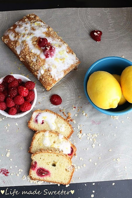 Raspberry Lemon Loaf Cake - Life made Sweeter 2